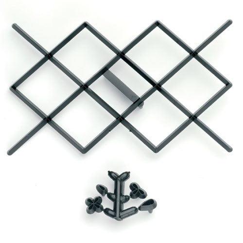 Fondant præger, diamantmønster