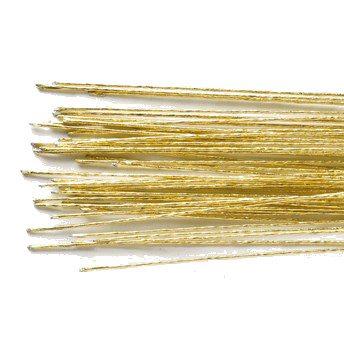 Blomster wire, guld, 50 stk