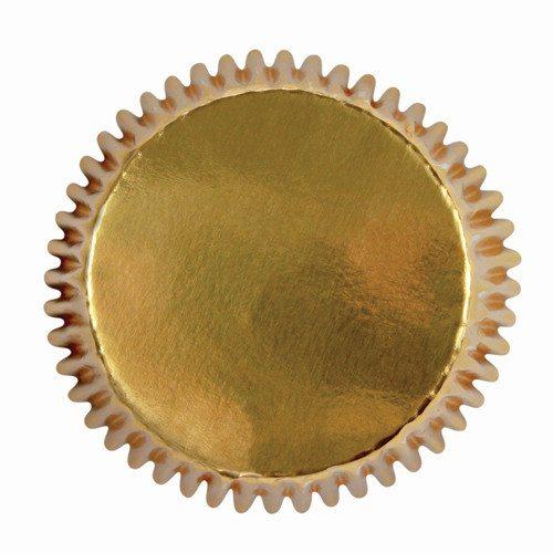 Mini muffinsforme, guld, 45 stk