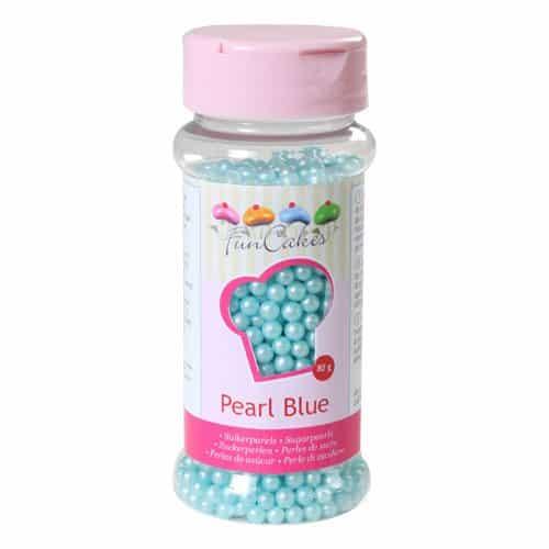Sukkerperler lyseblå