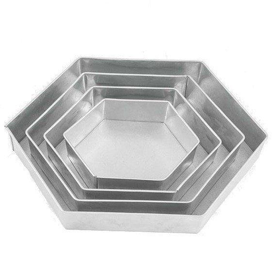 Cool Bageforme 6-kantede / Hexagon 4 stk, Eurotins » Nyborgs Room FY72