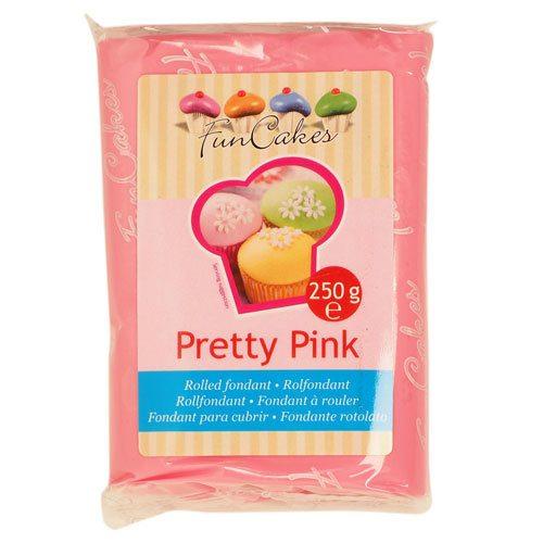 Funcakes fondant, rosa, 250g