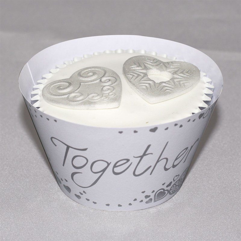 Cupcake Wraps Togehter Forever, 12 stk