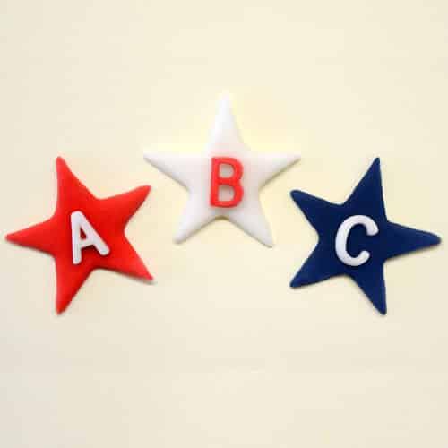 Fondant form til stjerner med bogstaver