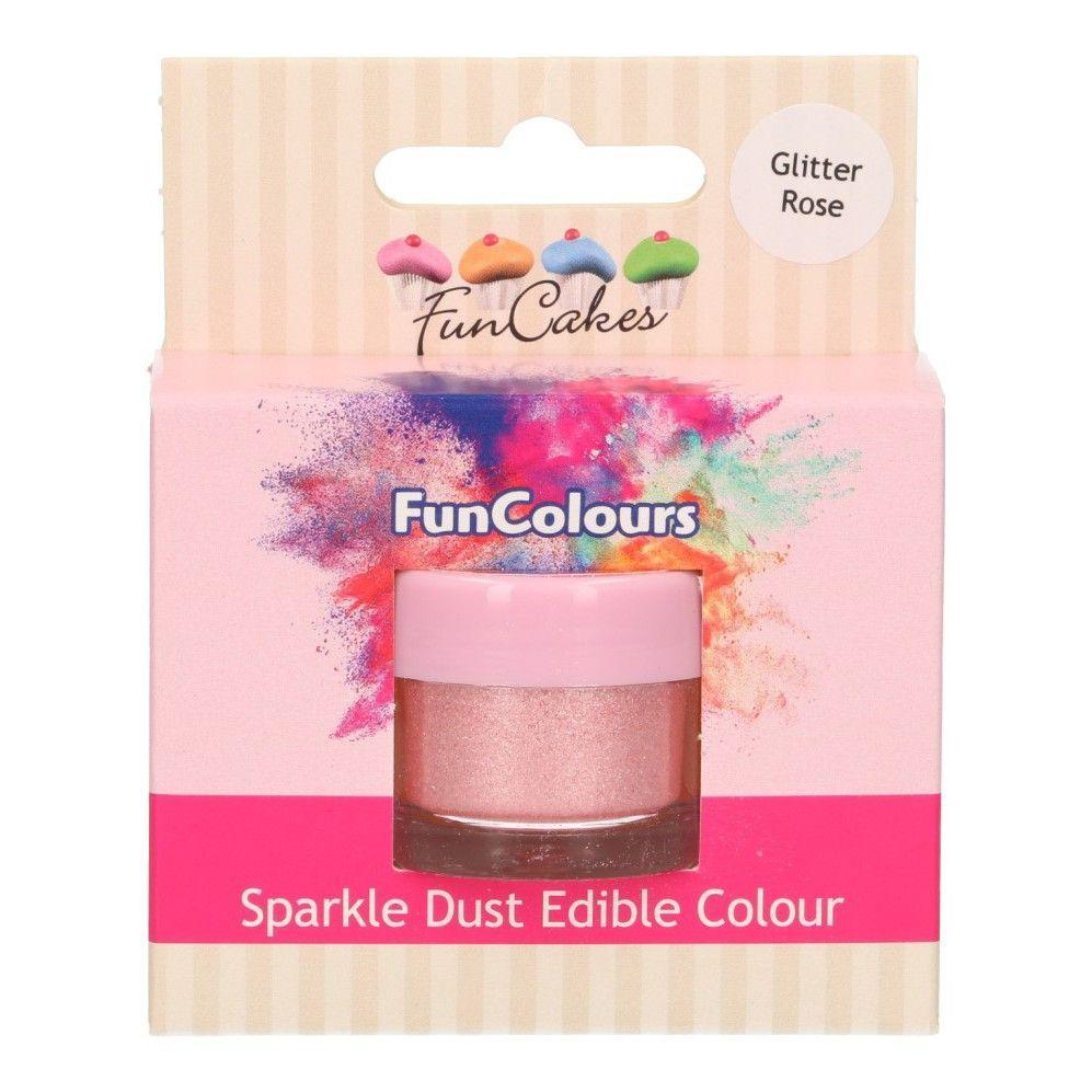 Pulverfarve med perlemor - Glitter Rose