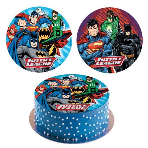 Spiseligt billede med Superman og Batman
