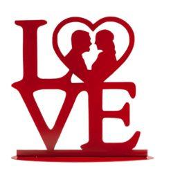 Topfigur til bryllupskage - LOVE