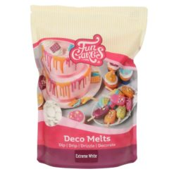 Funcakes Deco Melts, hvid (extreme white) - 1 kg