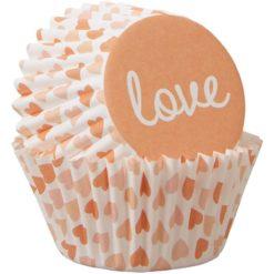 Wilton Mini muffinsforme - Love, 100 stk.