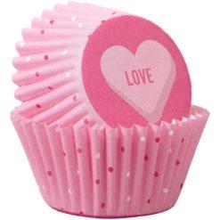 Wilton Mini muffinsforme - Love_hjerter, 100 stk.